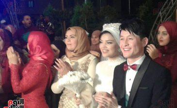 فتاة مصرية تتزوج من شاب صيني بعد اشهار اسلامه في دمياط