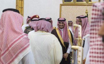 بدر بن سلطان يستقبل المهنئين من محافظة طبرجل بتعيينه أميراً لمنطقة الجوف
