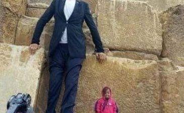 اخبار العالم اليوم أطول رجل في العالم وأقصر امرأة.. وَصَلا مصر