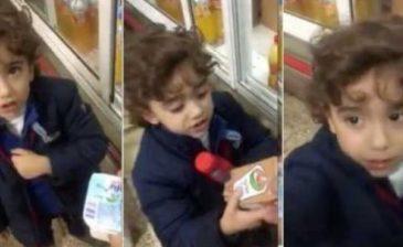 ردة فعل مثيرة للإعجاب لطفل فلسطيني يرفض شراء بضائع اسرائيلية