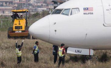 انزلاق طائرة ماليزية على مدرج مطار في نيبال